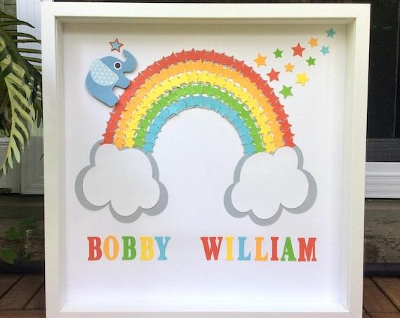 Pastel Rainbow stars wall Art decor - Nursery Wall Art Decor