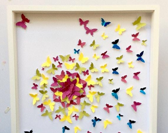 Splash of Butterflies Colours - Wall Art Decor