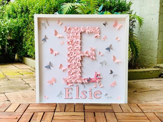 Butterflies Letters, personalised name Alphabet nursery letter wall art, Alphabet Butterflies letter , letter decor , letter art