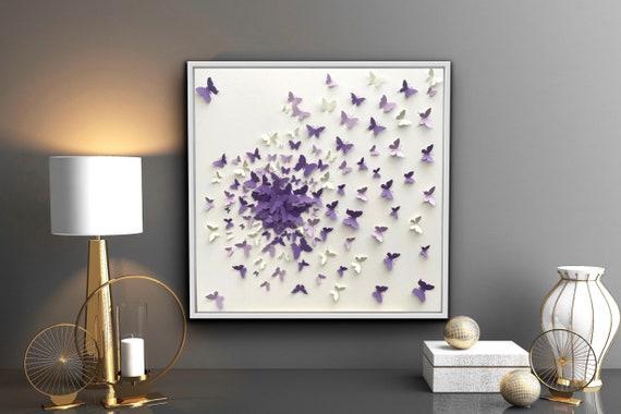 Shades of purple Butterflies Splash Decor
