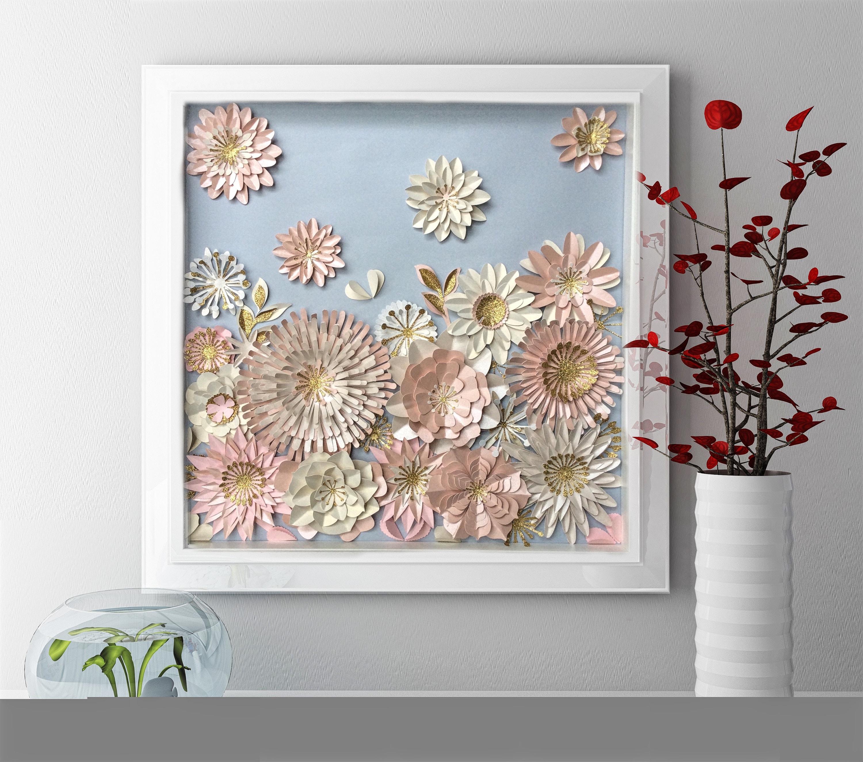 paper flower wall art 3d floral wall art nursery wall