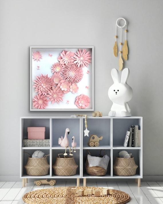 Light Pink Wall Art Flower Art
