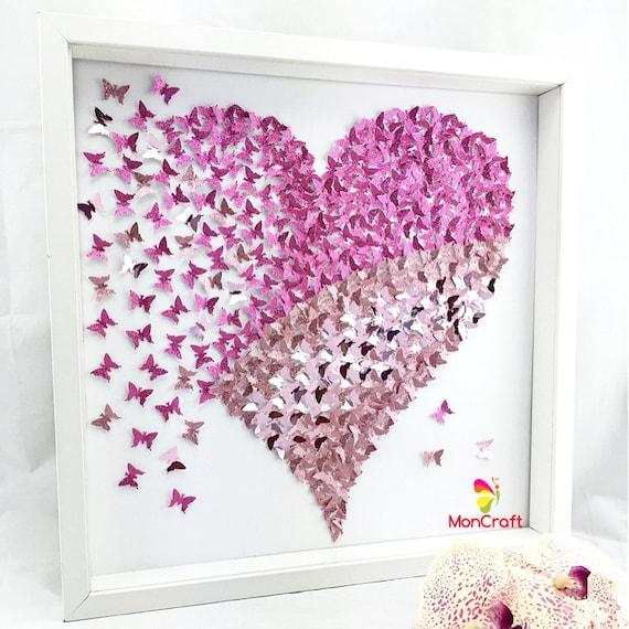 paper butterfly 3d butterfly wall art butterfly heart | Etsy