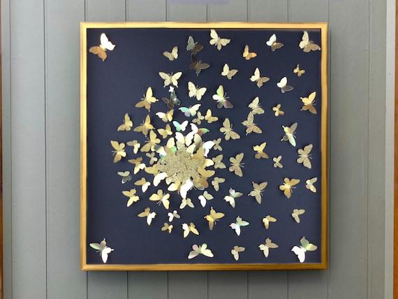 Modern wall Art -  Abstract butterfly wall art