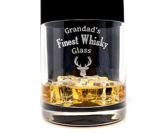 Novelty Present Grandad/'s Whiskey Goes Here Grandad Whiskey Coaster Gift