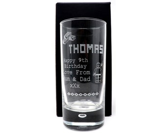 Personalised *NEW* RUM Glass Tumbler Gift 18th//21st//30th//40th//Boys//Men//Girls//Dad