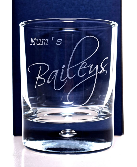 Gift Boxed Personalised Bailey/'s Whiskey Glass Tumbler