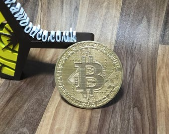 Bitcoin Oversized Physical coin - 3D Printed- FREE DELIVERY
