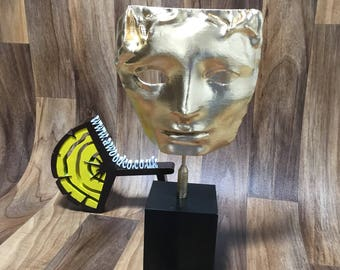 "BAFTA British Academy of Film and Television Arts film award statue 13.5"" in Height - 3D Printed.  FREE DELIVERY"