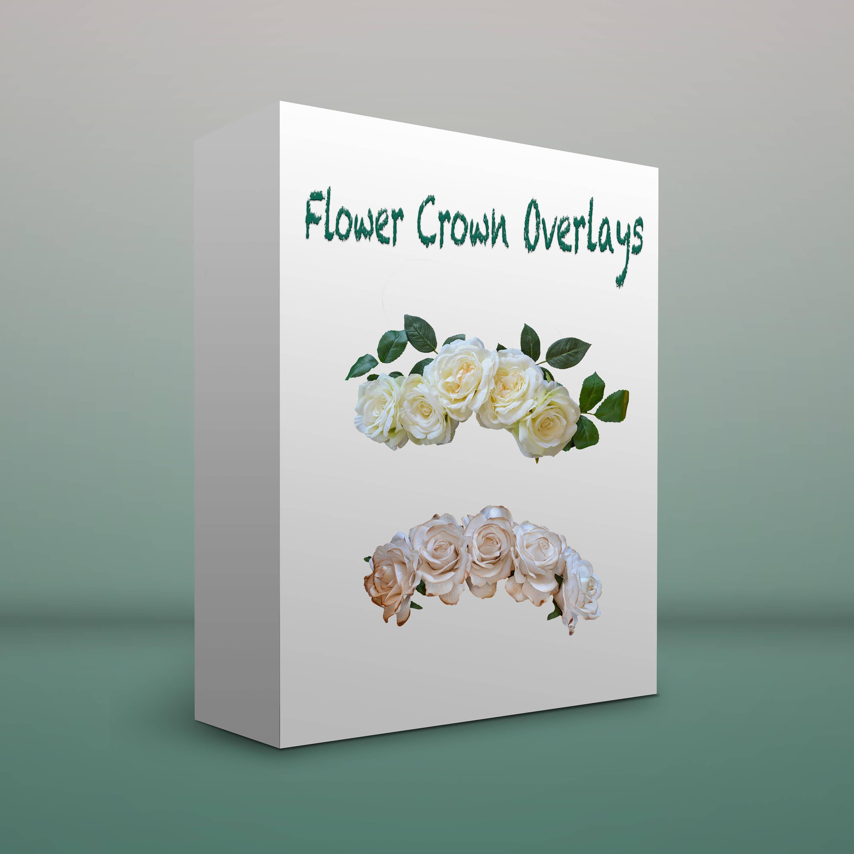 Flower crown photo overlays 12 etsy zoom izmirmasajfo