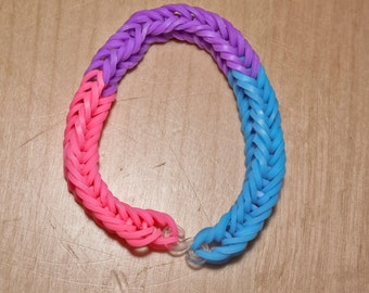 Bi Pride Flag Loom Bracelet