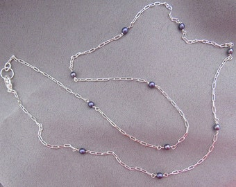 Special Chain Sale//Sterling Silver and Small Freshwater Pearl Necklace