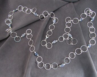 Special Chain Sale//Sterling Silver Chain and Lapis Necklace