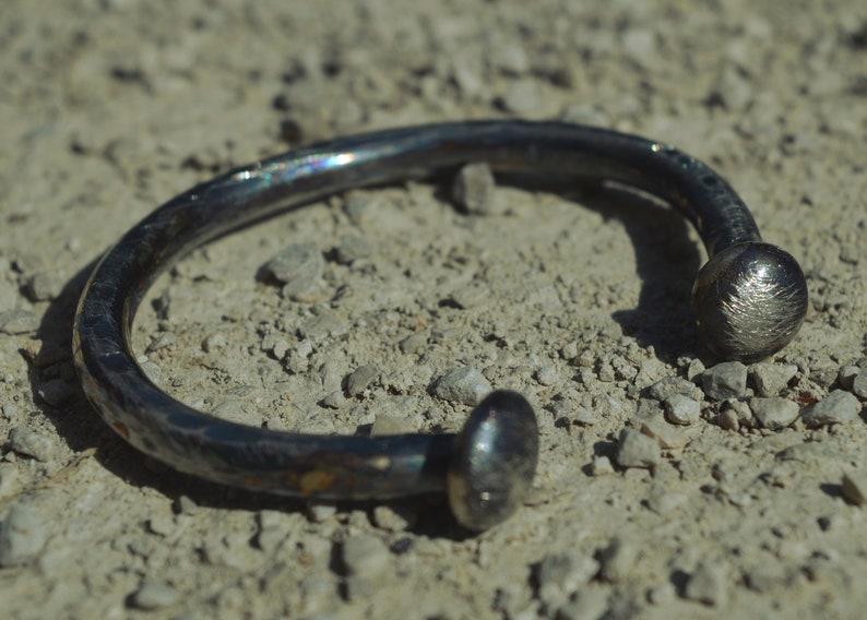 sterling silver bracelet VERY THICK unisex bracelet,MENS bracelet,handmade rustic oxidized mens cuff bracelet,unique