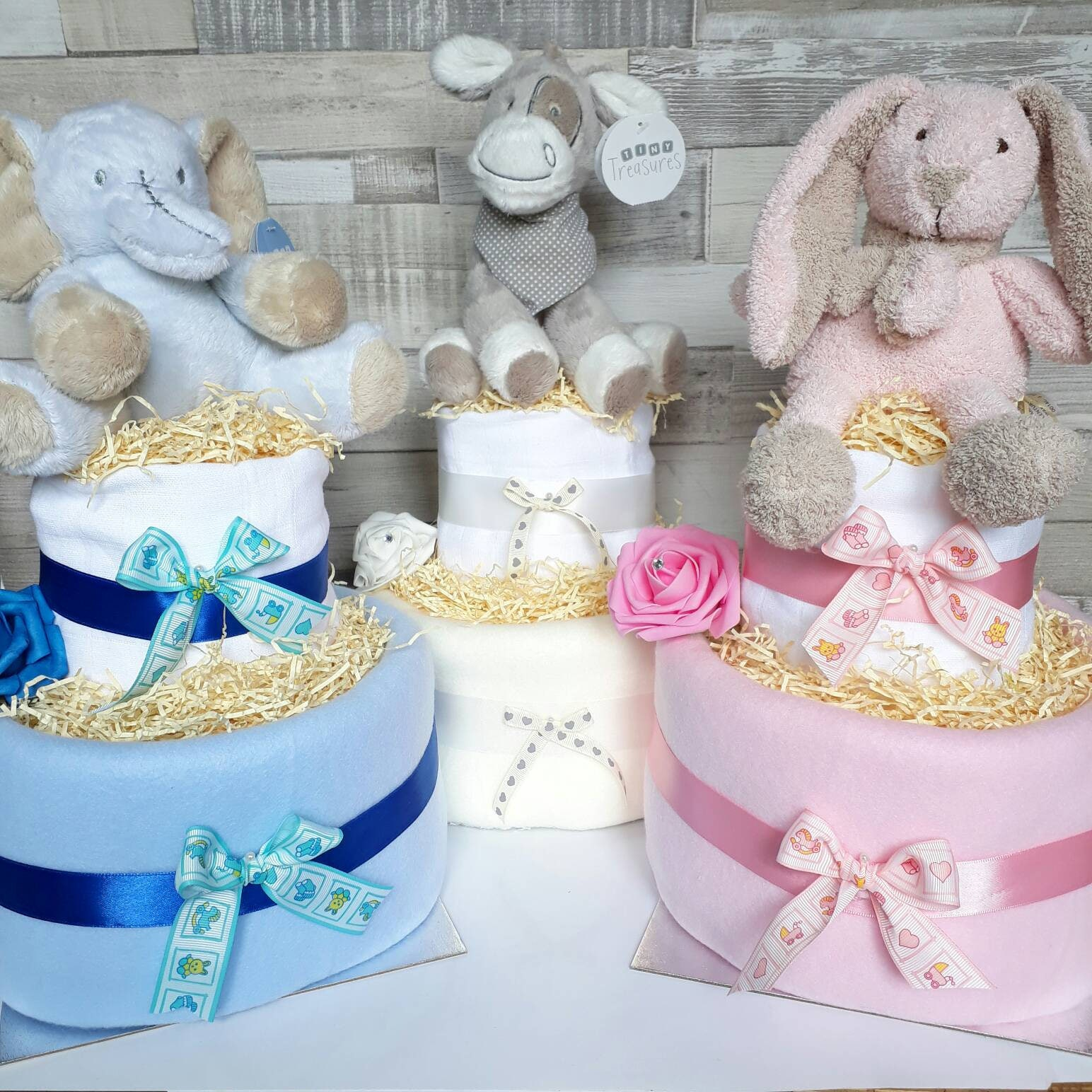 Nappy Cake Baby 2 Tier Baby Shower Gift New Baby Maternity