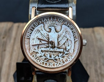 d67ebac79d49 USA Coins Leather Watch