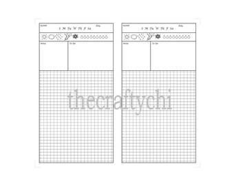 Hobinichi insert for TN, Traveler's Notebook, Midori- , B6  digital download Printable