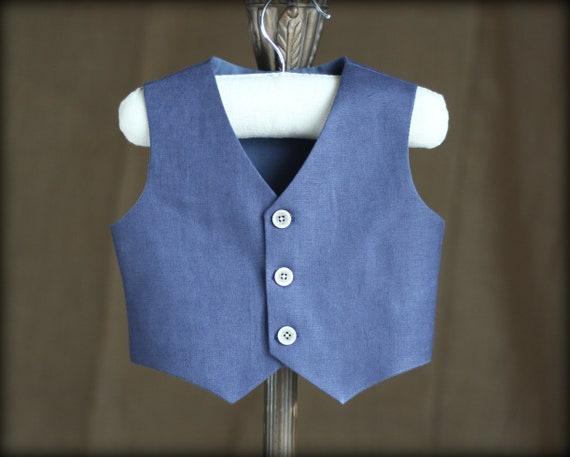 62d1c1890 Navy blue vest Boys linen vest Ring bearer vest Toddler