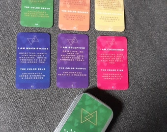 Affirmation Cards   A Cosmic Game of Love   Game   Objectives   Color Therapy   Love Cards   Kindness Cards