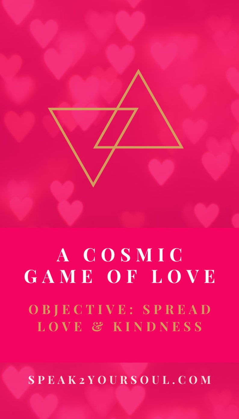 Affirmation Cards  A Cosmic Game of Love  Pre Order  Color image 0