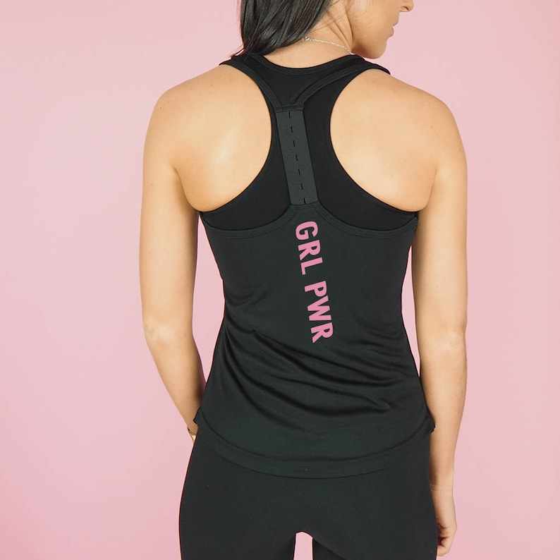 d7de15aa0 GRL PWR Gym Vest Top - Gym Clothing - Women's Gym Clothes - Gym Vests -  Slogan Gym Wear - Exercise Clothing - Gym Top Gift - Girl Power Top