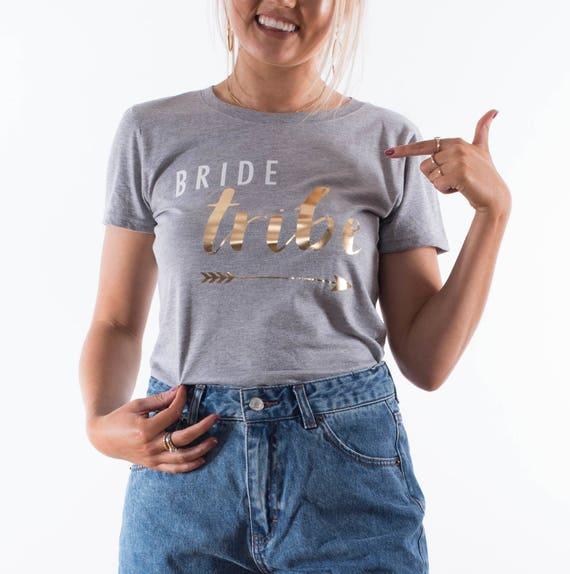 c4d1b62c Bride Tribe T-shirt Bride To Be Top Wifey Tshirt Hen | Etsy