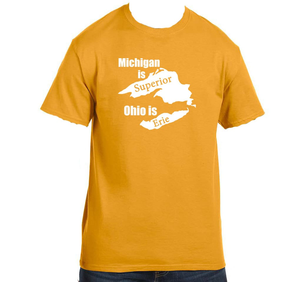 Michigan Is Superior Ohio Is Erie Funny Custom States Tees Etsy
