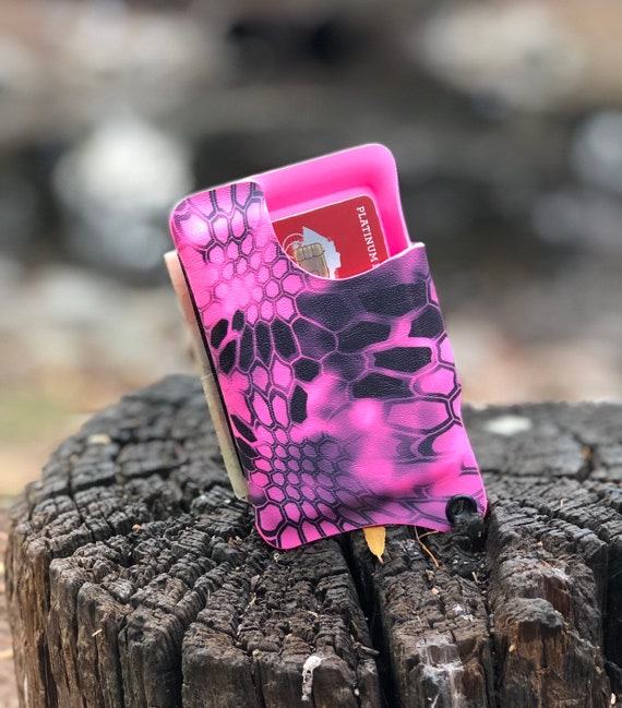 Kryptek Kydex Wallet With Money Clip - Hot Pink