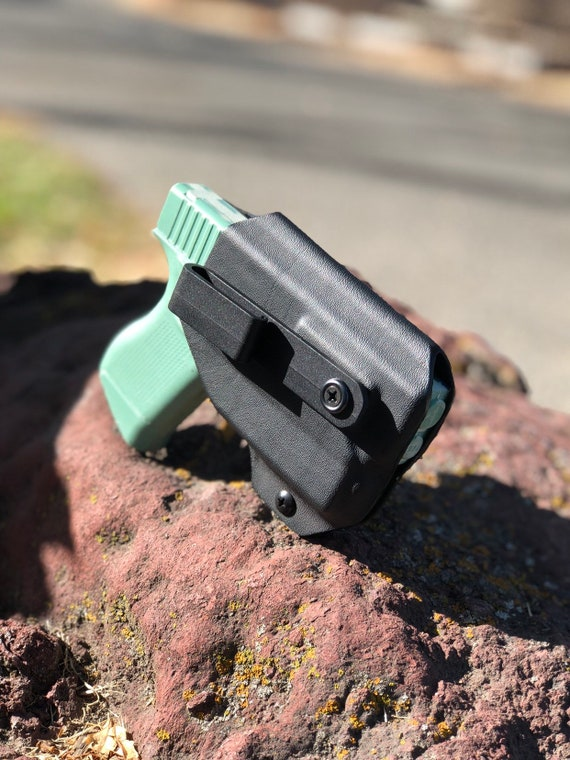 Glock 43 with TLR6 weapon light - Kydex IWB Appendix Holster