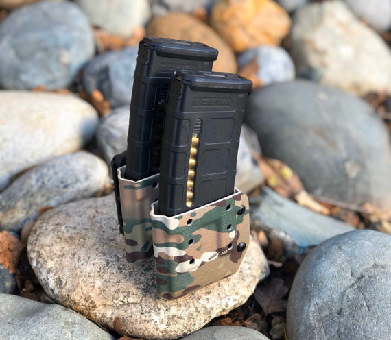 QUICK SHIP - AR-15 Double Magazine Carrier- Double Stack - DD556 - Multicam