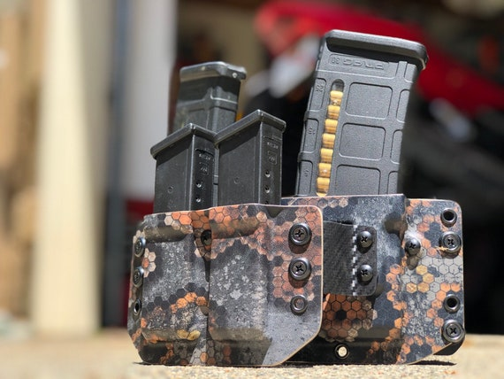 Hexcam Spectre13 - Kydex Double Stack Competition Magazine Carrier 2.0 : 2 Rifle + 2 Pistol Mags