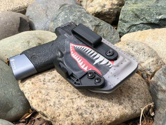 P40 AIWB Holster - S&W Shield - A10 Warthog/Shark Teeth Print
