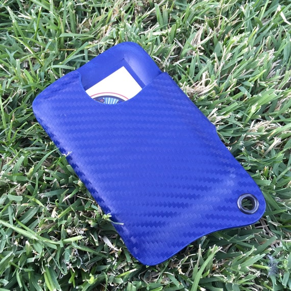 Kydex Wallet With Money Clip - Police Blue Carbon Fiber
