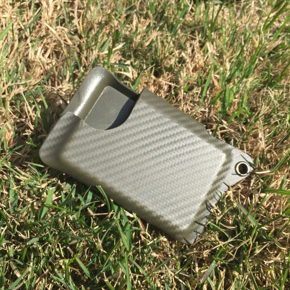 Kydex Wallet With Money Clip - OD Green Carbon Fiber