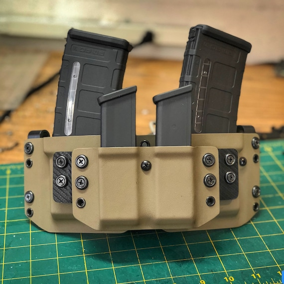 Kydex Double Stack Competition Magazine Carrier 2.0 : 2 Rifle + 2 Pistol Mags
