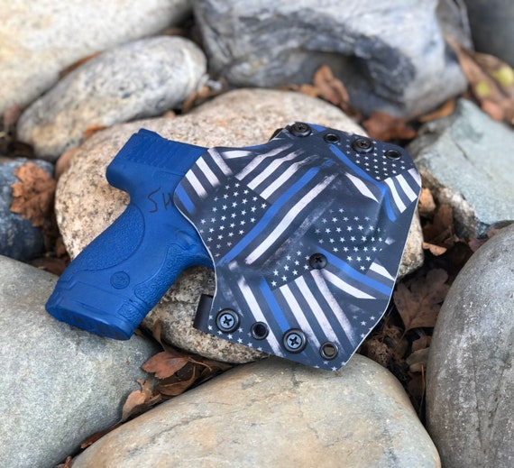 Smith and Wesson Shield OWB Holster - Thin Blue Line Edition