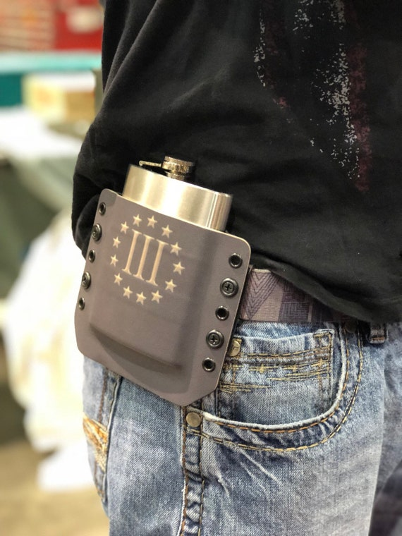 Kydex Flask Holster - 3 Percent Edition