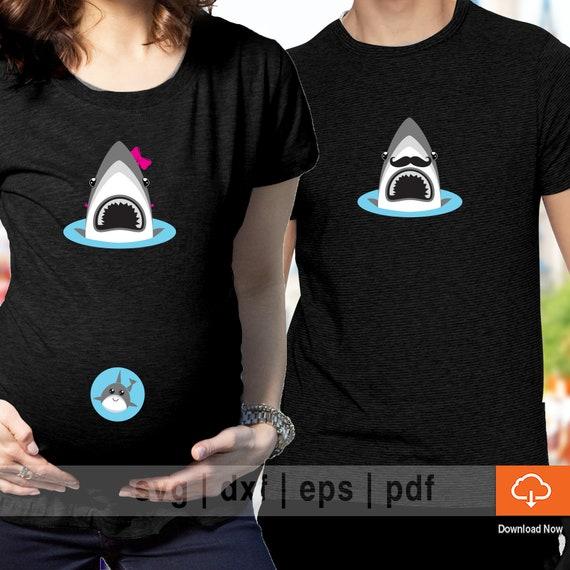 Maternity Pregnancy Shirts Baby Shower Baby Shark Beauty Bump T-Shirt Shirts Tee