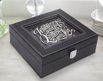 Personalized Watch Box for Men – Watch Case Holder with Watch Display Personalized Cover Groomsman Gift,  Groomsman Box, Wedding Gift