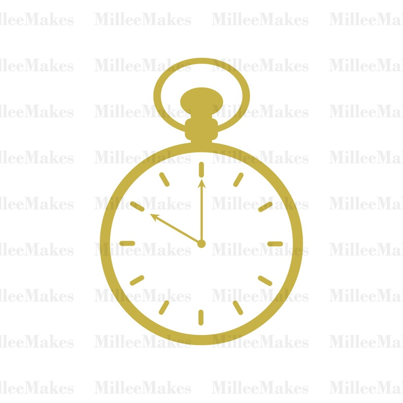 c144d14f9 Pocket Watch Vector Timepiece SVG Clock Clip Art HTV Cut   Etsy