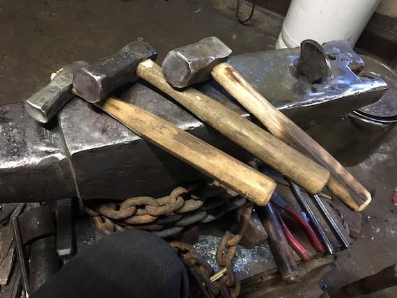 Bladesmithing Japanese Style Dogshead Hand-Forged Blacksmith Hammer 2-2.5 lb