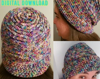 Crochet Pattern - Not Knit Hat - Crochet Beanie - Crochet Hat - Women's Hat - Hipster Beanie - Digital Download - Crochet Patterns - Beanie