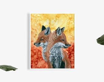 Fox Cub Art Print