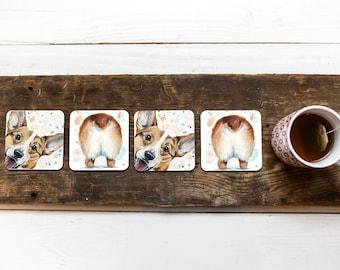 Corgi Gifts for Corgi Moms, Corgi Coasters that make great Best Friend Gifts for Pet Lovers,