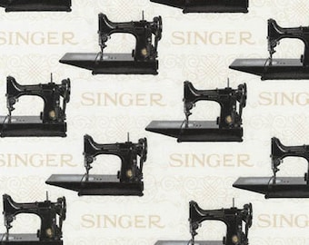 6a0b10d4e65 Sewing With Singer Fabric / Featherweight Sewing / Robert Kaufman 15642  ANTIQUE / Singer Featherweight Fabric by the yard & Fat Quarters