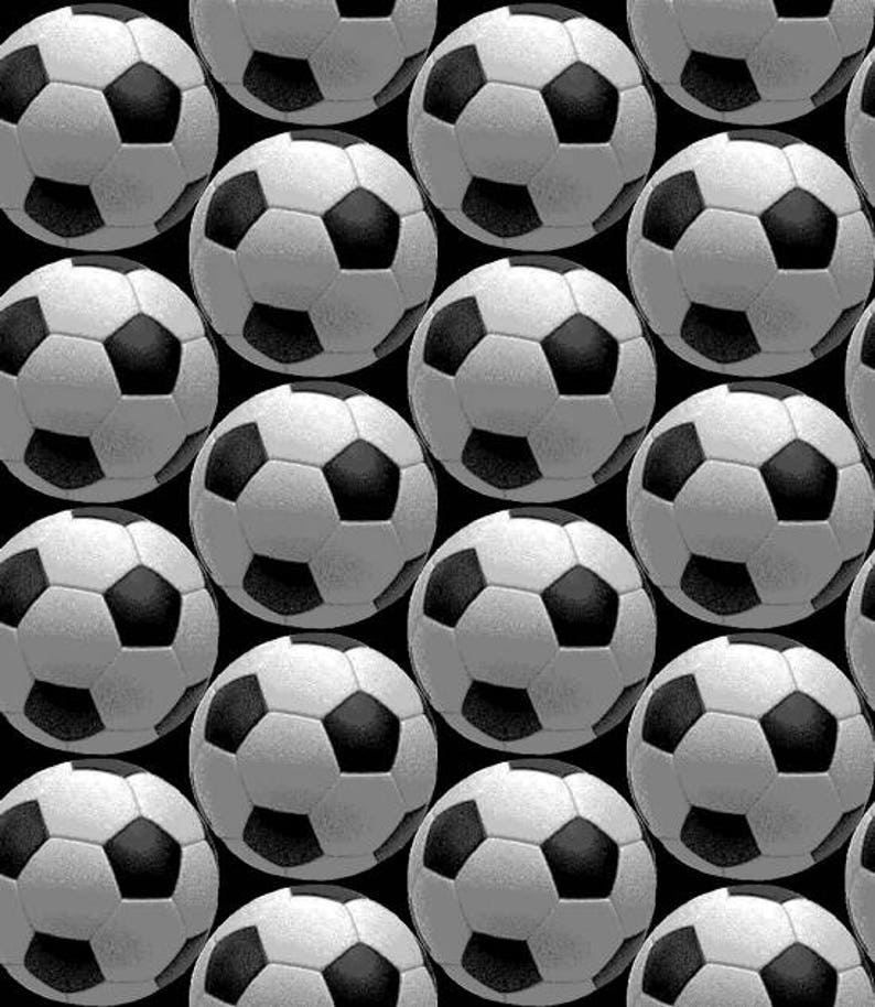 0e362a820 Goal Kick Soccer Ball Fabric / Black and White Football Sports | Etsy