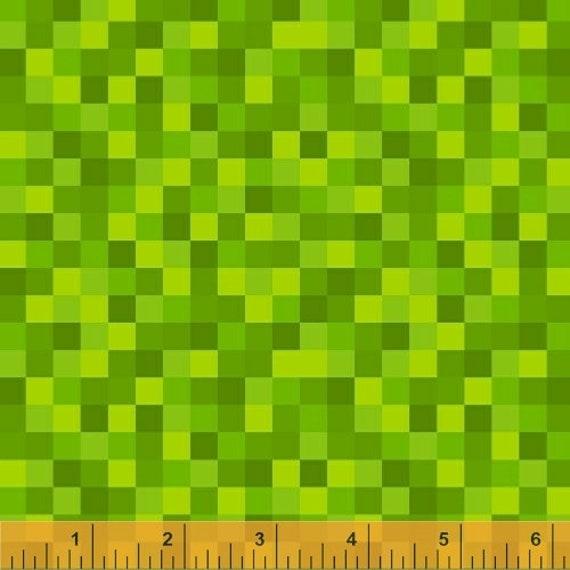 Gemstone by Windham  Minecraft Bitmap Style Fabric 50615-20