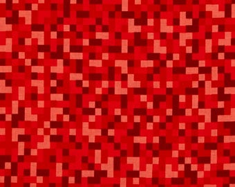 Minecraft Fabric / Bitmap Fabric / Red Minecraft by the yard / Minecraft Style Yardage Michael Miller cx7029 / By The Yard and Fat Quarters