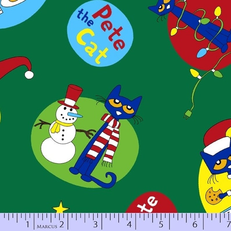 Pete The Cat Christmas.Pete The Cat Christmas Fabric Pete The Cat Yardage James Dean By Marcus 9864 0114 Pete The Cat Fabric By The Yard Fat Quarters