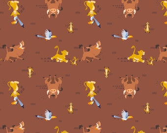 The Lion King Sahara in Brown Fabric / Lion King Fabric / 85260103 Camelot / Lion King Fabric by the yard and Lion King Fat Quarters